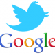 Twitter and Google Logos